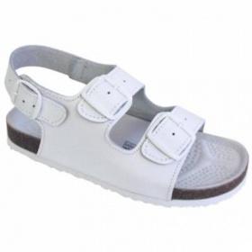 L�ka�sk� b�l� kalhoty+sand�le - foto �. 1