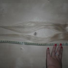 Dva clip in pramínky odstínu 60-nejsvětlejší blond z Top vlasy-Remy lidské vlasy - foto č. 1