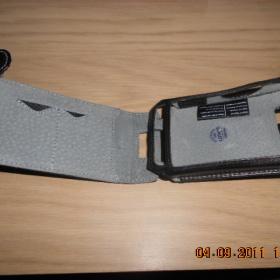 Černé kožené pouzdro Krusell na mobil HTC HD2 - foto č. 1
