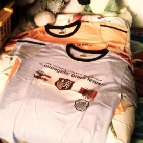 Oranžové a fialové dámské tričko - foto č. 1