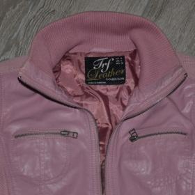 Růžová kožená bunda Zara - foto č. 1
