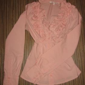 Růžová košile s nabíráním kolem výstřihu Tally Weijl - foto č. 1