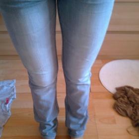 Šedivé džíny,roury C&A - foto č. 1