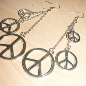 Peace náušnice - foto č. 1