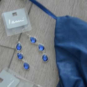 Modré náušnice - foto č. 1