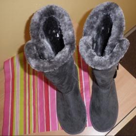 Šedé podzimní/zimní boty - foto č. 1