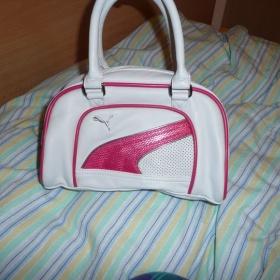 Sportovní bílo - růžová kabelka Puma - foto č. 1