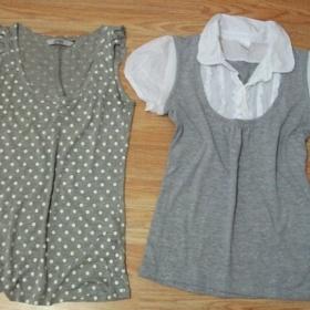 Šedobílé tričko a tílko Camaieu a Pull and Bear - foto č. 1