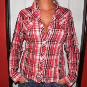 Červená kostkovaná košile - foto č. 1