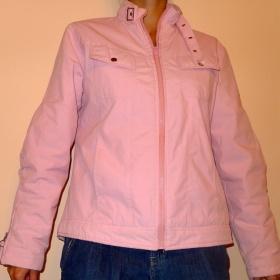 Růžová podzimní bunda No Name - foto č. 1
