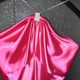 Růžové dlouhé šaty Bára - foto č. 1