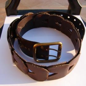 Hnědý kožený pásek next - foto č. 1