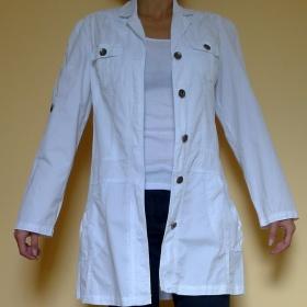 Bílý kabát Ebelieve - foto č. 1