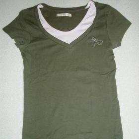 Khaki tričko s vážkou Fishbone - foto č. 1