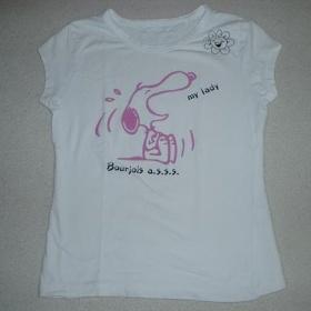 Bílé tričko se Snoopym - foto č. 1