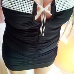 Černé šaty se zdobením xs/s - foto č. 1