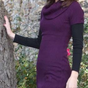 Svetrové šaty - foto č. 1