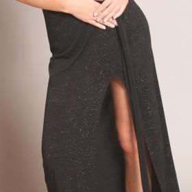Společenské černé dlouhé šata Orsay - foto č. 1