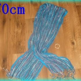 Modrá dlouhá šála z Ameriky - bez značky - foto č. 1