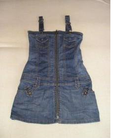 Riflové šaty XS - foto č. 1