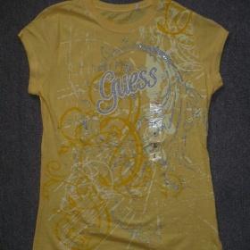 Žluté tričko Guess, vel. L - foto č. 1