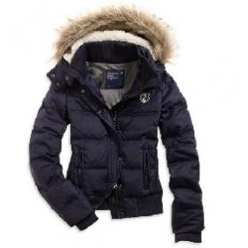 Zimní péřová bunda  American Eagle tmavě modré barvy - foto č. 1