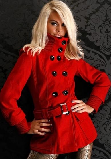 červený kabát na zimu - Bazar Omlazení.cz 682fd0d366