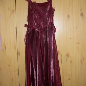 Plesové bordó šaty - foto č. 1
