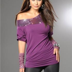 tričko nebo tunika - padlé rameno/ramena - foto č. 1