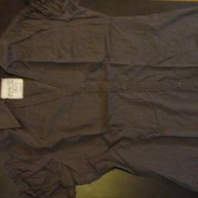 Hnědá košile Esprit s krátkým rukávem - foto č. 1