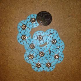 Pásek velký tyrkysově modrý s velkou sponou - foto č. 1