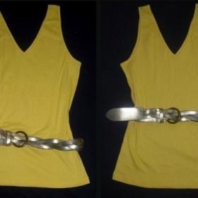 Žluté tílko Cherokee + zlatý pásek - foto č. 1