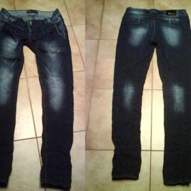 Světlé bokové šisované rifle - džíny - foto č. 1