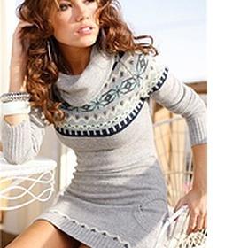 Svetrové šaty, teplejší svetr, tunika - foto č. 1
