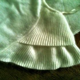 Vlněné šaty HM velké rukávky 34 bílokrémové měkké - foto č. 1