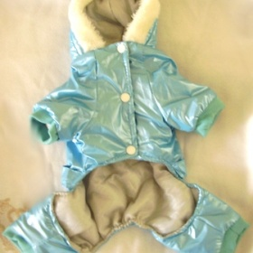 Modr� zimn� kombin�za pro mal�ho pejska - �ivava, jork��r - foto �. 1