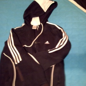 Tmav� modr� mikina Adidas s kapuc� - foto �. 1