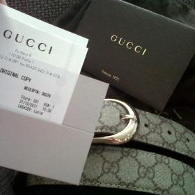 Pásek Gucci - Leather, canvas - foto č. 1