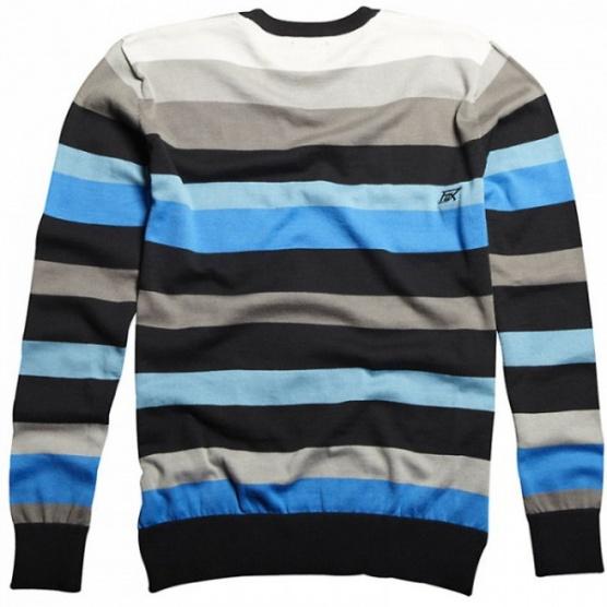 Pruhovaný modro černo šedo bílý chlapecký svetr Fox Riders - Bazar ... 369c01f8bc
