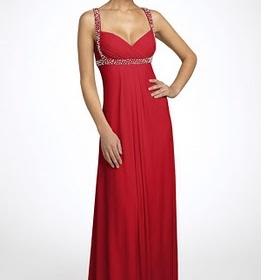 dlouhé šaty na ples Červené nebo černé, ideálně červeno - černé. - foto č. 1