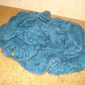 Šátek, šála zelená objemná - foto č. 1