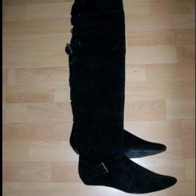 Vysoké černé mušketýrky - foto č. 1