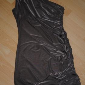 Spoločenské hnedé šaty - foto č. 1