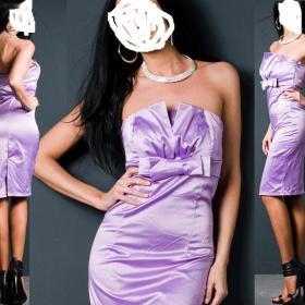 Fialové koktejlové šaty - foto č. 1