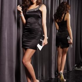 Černé šaty s kamínky Japan Style - foto č. 1
