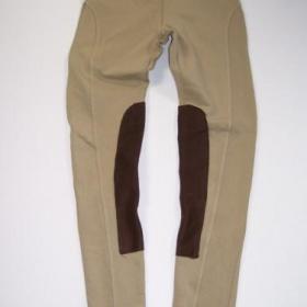 Nude/béžové/krémové legíny/kalhoty jezdeckého stylu - foto č. 1