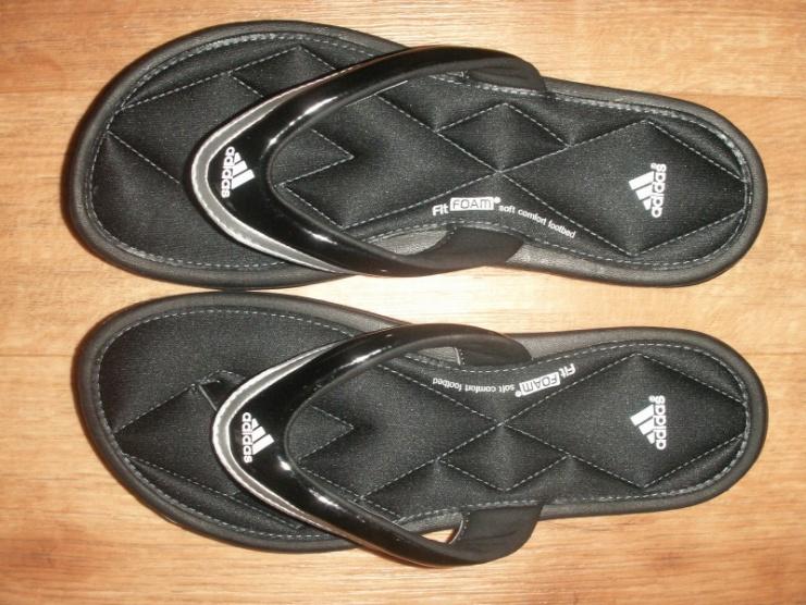 Černé gelové žabky Adidas Sleekwana - Bazar Omlazení.cz