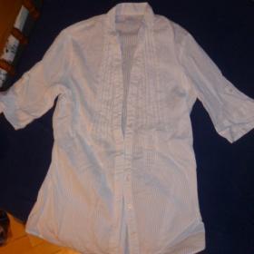 Bílá proužkovaná košile Camaieu - foto č. 1