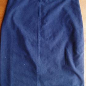 Modrá  elastická sukně - foto č. 1