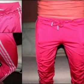 Kalhoty Adidas růžovo - bílé - foto č. 1